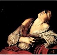 Magdalena penitente. Caravaggio (1598)